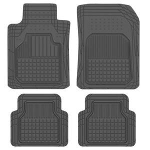 4pc Motor Trend Odorless Car Floor Mats All Weather Rubber Custom Fit Heavy Duty