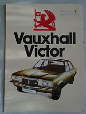 Vauxhall Victor range brochure Nov 1974