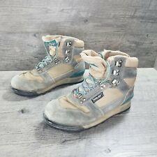 Vintage Vasque Gore-Tex Hiking Boots Suede Men's Size 8 Olive Green