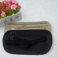 New Security Money Waist Travel Pouch Hidden Passport ID Holder Compact Belt Bag