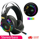 Gaming Headset LED Headphones USB Wired for PC Laptop PS4 Xbox One Computer