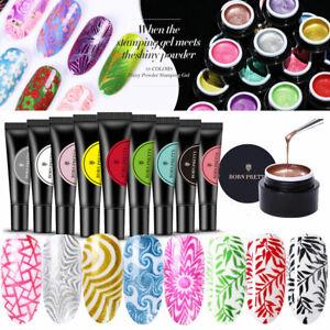 33 Farben UV Gel Nagellack Maniküre Nail Art Stamping Polish BORN PRETTY 5/8ML