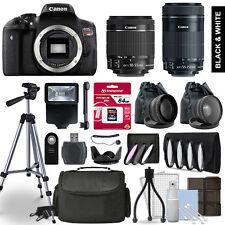 Canon Rebel T6i Camera 4 Lens Kit 18-55 + 55-250mm STM + 64 GB Accessory Bundle