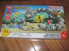Mega Construx Pokemon ONIX SUPER BATTLE 745 Pcs Bloks FVR55 NEW