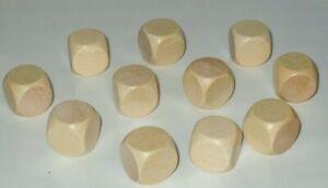 10 Blankowürfel  Holzwürfel  zum Bemalen Basteln 16 mm Bastelwürfel