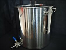 70ltr stainless steel stockpot with Tap (hlt mashtun kettle) fermenting