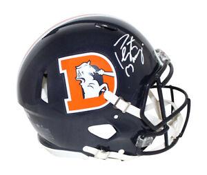 Peyton Manning Signed Denver Broncos Authentic Color Rush Helmet FAN 30441