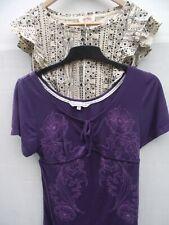 Fat Face. Natural Blouse & Purple Top  - 2 Top Bundle. Size 12 wears 10