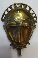 Brooch Baule Mask Reproduction - in heavy hand cast Bronze 6x4cm