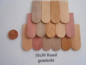 200 Stk.Holzschindeln Dachschindeln Schindel 18x50/45 mm  Rund gefast Gerade