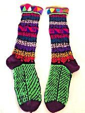 Hand knitted handmade Peruvian winter ethnic long socks  AB20