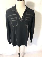 Bilancioni Sweater Size XXL BLACK COLOR For Men Made In Italy