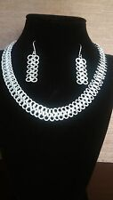 Silver jewelry set - String style