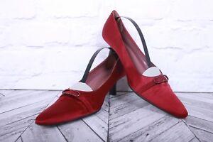JAMIE MASCARO Stiletto High Wedding Party BLUE VELVET Satin Red RRP £195 EU 40
