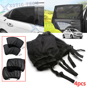 For Ford Escape Fusion Explorer Car Side Window Shade Mesh Shield UV Protect 4pc