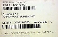 HP DV7-1000 SERIES LAPTOP HARDWARE SCREW KITS - 480475-001