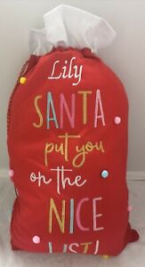 Personalised Christmas sack. embroidered name. Santas Good list. Gifts.Stocking