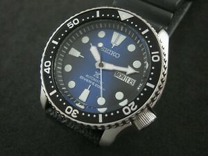 SEIKO SKX007 Mod Prospex Batman NH36 Hack Winding Water Proof Tested A1 Cond.