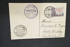 Finland 1930 C1 Zeppelin on Postcard Helsinki To Friedrichshafen Lorch