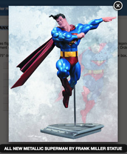 ALL NEW METALLIC SUPERMAN BY FRANK MILLER STATUE DC COMICS (FACTORY SEALED, MIB)