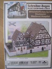 Mittelalterliches Spital Blaubeuren 1:87 Schreiber-Bogen Kartonbausatz *NEU*