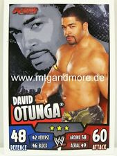 Slam Attax Rumble-David Otunga-RAW