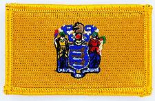 Ecusson Brodé PATCH drapeau NEW JERSEY USA AMERICAIN ETATS UNIS FLAG EMBROIDERED