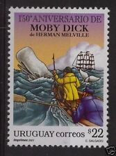 Literature Melville Moby Dick legend whale sea URUGUAY Sc#1912 MNH STAMP cv$6
