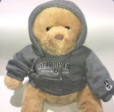 AEROPOSTALE Plush Stuffed Brown Bear with Grey Hoodie Jacket