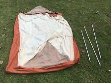 Vintage Boy Scout of America Pup Camping Tent 1980 w Rain Fly and Poles