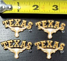 """LOT OF 4 Texas Longhorns NCAA 1.5"""" x 1"""" Iron on Patch~FREE SHIPPING FROM U.S.~"""