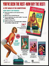 KATHY SMITH'S Step Workout__Original 1992 Trade print AD promo / advertisement