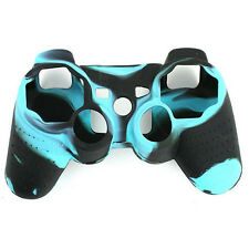 Black and Blue Silicon Protective Skin Case Cover for Sony Playstation PS3 T5H0