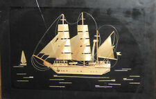 Vintage Hand Made wood ship wall decor