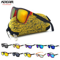 Kdeam Polarized Sunglasses Retro Square Outdoor Sport Cycling Helm Sun  !