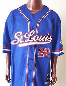 NLBM St. Louis Stars Men's Baseball Jersey Blue