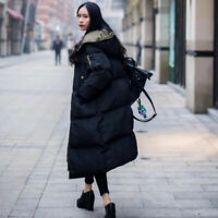 Women Long Puffer Coat Quilted Parka Down Jacket Hooded Oversized Loose nice