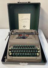 Vintage Working Mid-Century Smith Corona Silent Portable Typewriter w/ Case