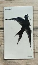 *UK SELLER* Swallow Bird Waterproof Temporary Tattoo Body Art /-a157-/