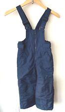 Columbia Boys Girls Kids Navy Blue Snow Pants with Bib Size 4/5 Adjustable