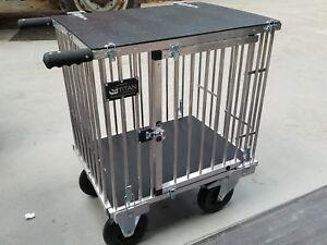 """Titan 1 Berth SMALL Aluminium Dog Show Trolley with 8"""" All Terrain Wheels"""