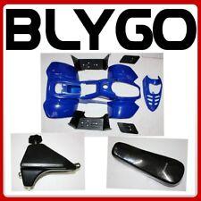 BLUE Plastics Fairing Fender Guard Kit+ Seat+ Fuel Tank 110cc Quad Dirt Bike ATV