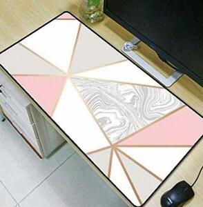 Rose Gold Geometric Gaming Computer Mouse Mat Desk Pad