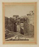 Siria Balbeck Piccolo Stampa Di Bonfils Vintage Albumina Ca 1880