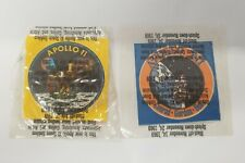 Vintage APOLLO 11 (eagle) & 12 (clipper ship) emblem badge Stickers (LOT of 2)