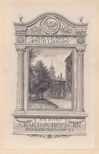 Ex Libris Bookplate for A. Barton Hepburn by Sidney L. Smith 1921