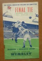 Blackpool v Newcastle United, 28/04/1951 - FA Cup Final Match Programme.