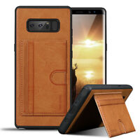 For Samsung Galaxy Note 8 Leather Shockproof Card Slots Kickstand Wallet Case