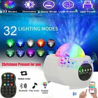 LED Galaxy Projector Night Light Ocean Wave Starry Lamp Star Projector w/ Remote
