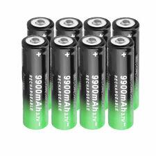 8 Pack 18650 Battery Rechargeable 3.7V Li-ion For Headlamp Flashlight